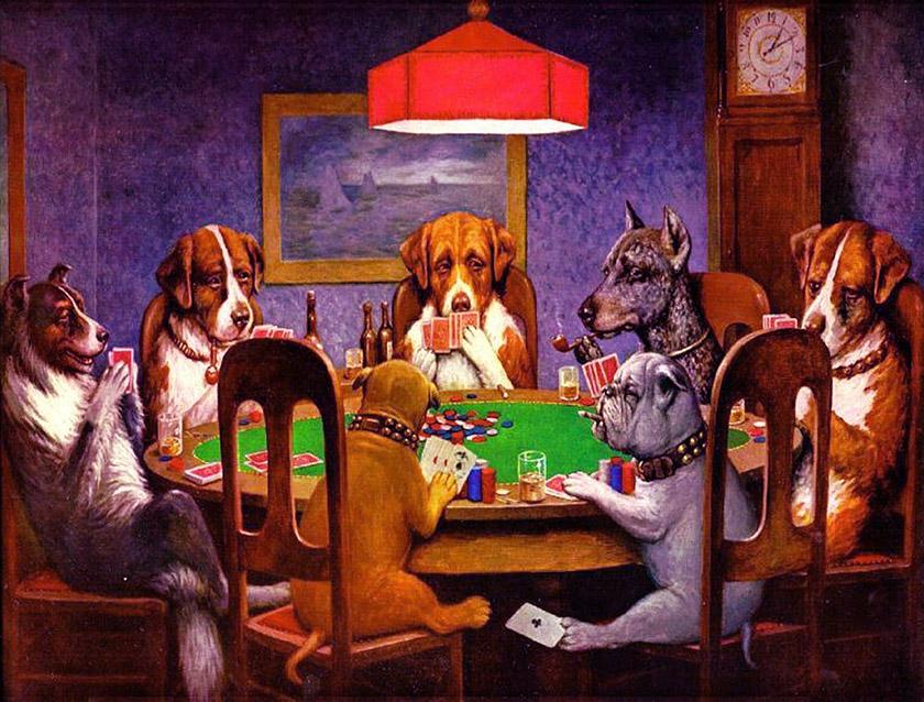 Крайности при розыгрыше большого количества рук в покере.